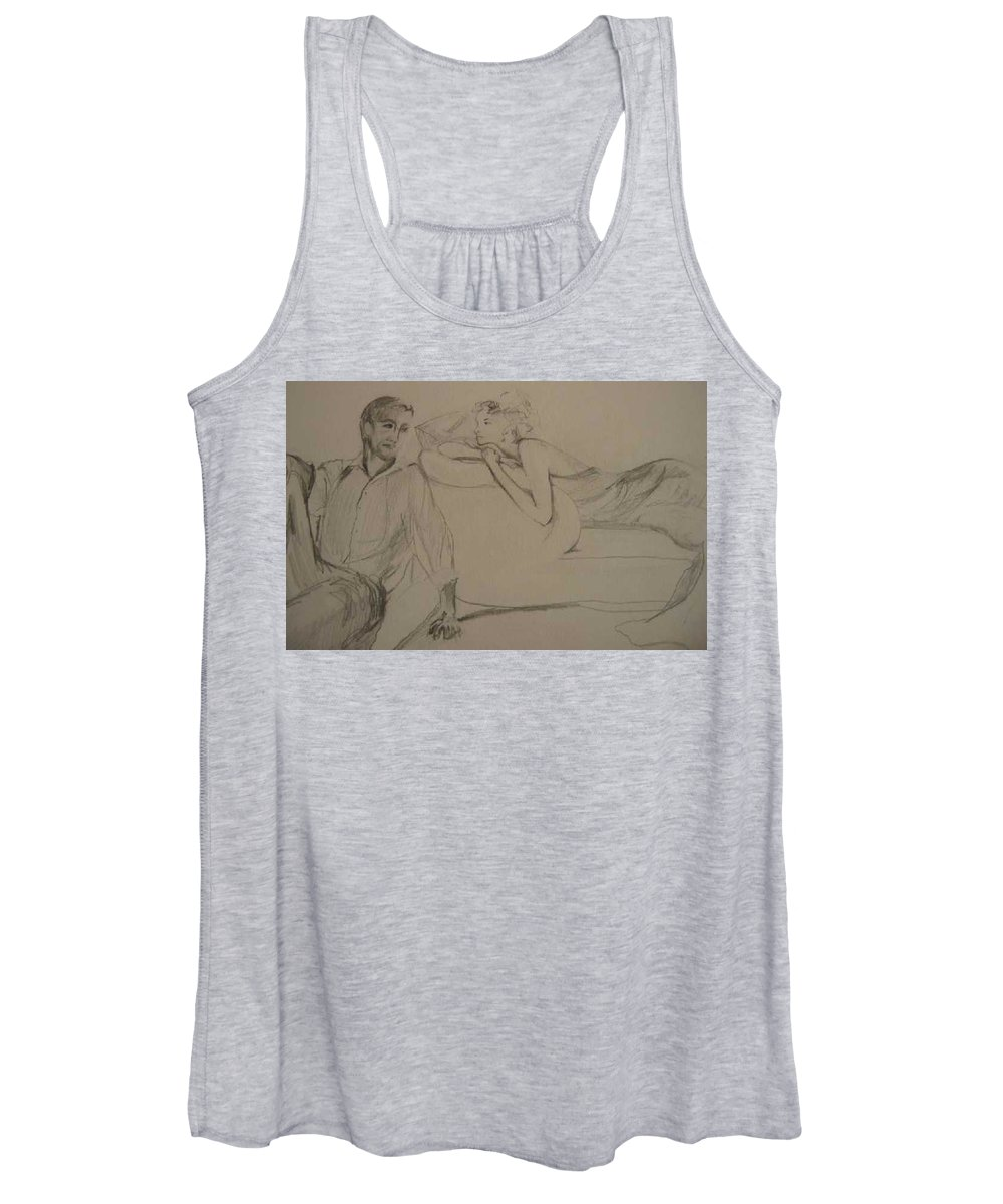 Seduction Women's Tank Top featuring the painting Contentment by Lizzy Forrester