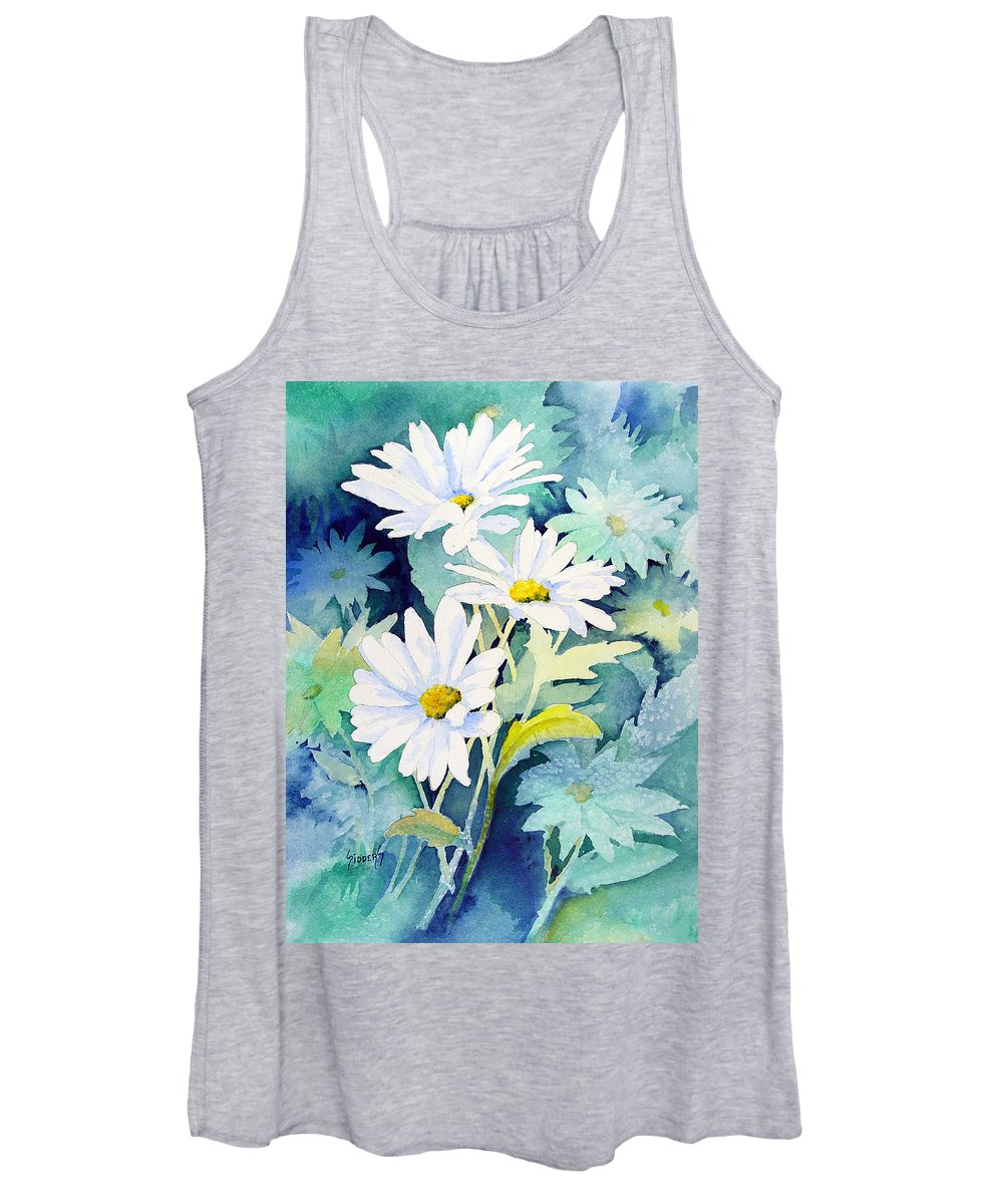 Flowers Women's Tank Top featuring the painting Daisies by Sam Sidders