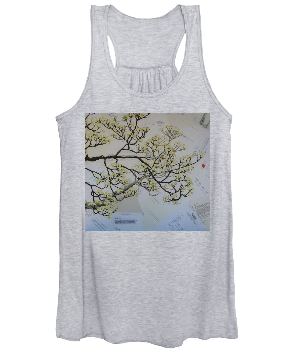 Collage Women's Tank Top featuring the painting Dear Artist by Leah Tomaino