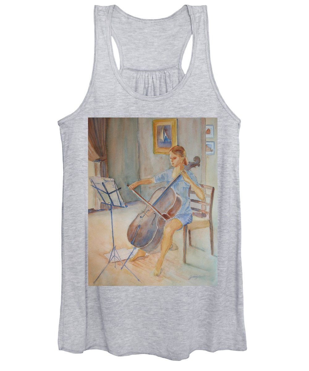 Girls Women's Tank Top featuring the painting Emma And Clifford by Jenny Armitage