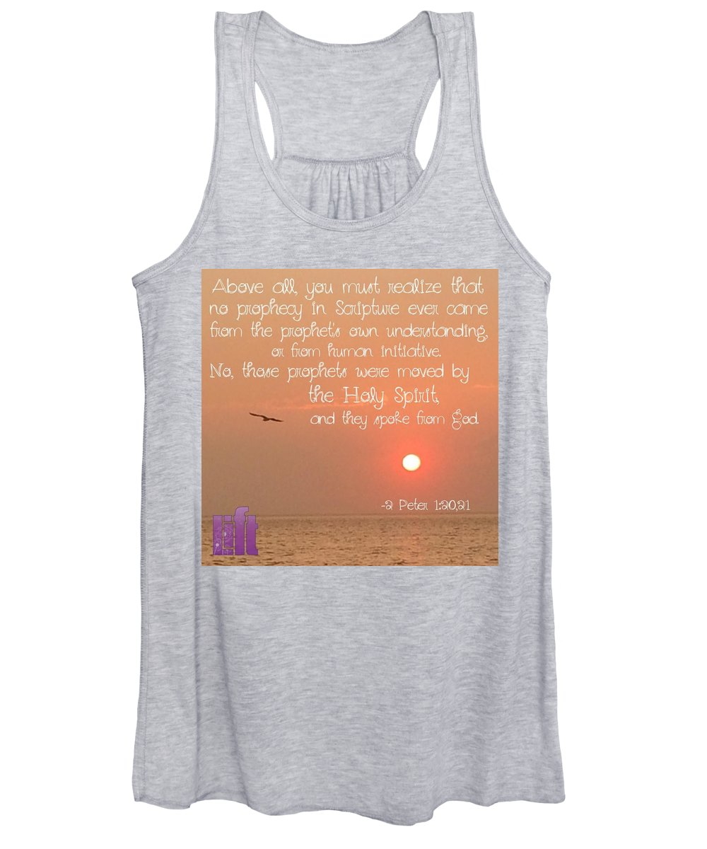 Voicefromheaven Women's Tank Top featuring the photograph For We Were Not Making Up Clever by LIFT Women's Ministry designs --by Julie Hurttgam