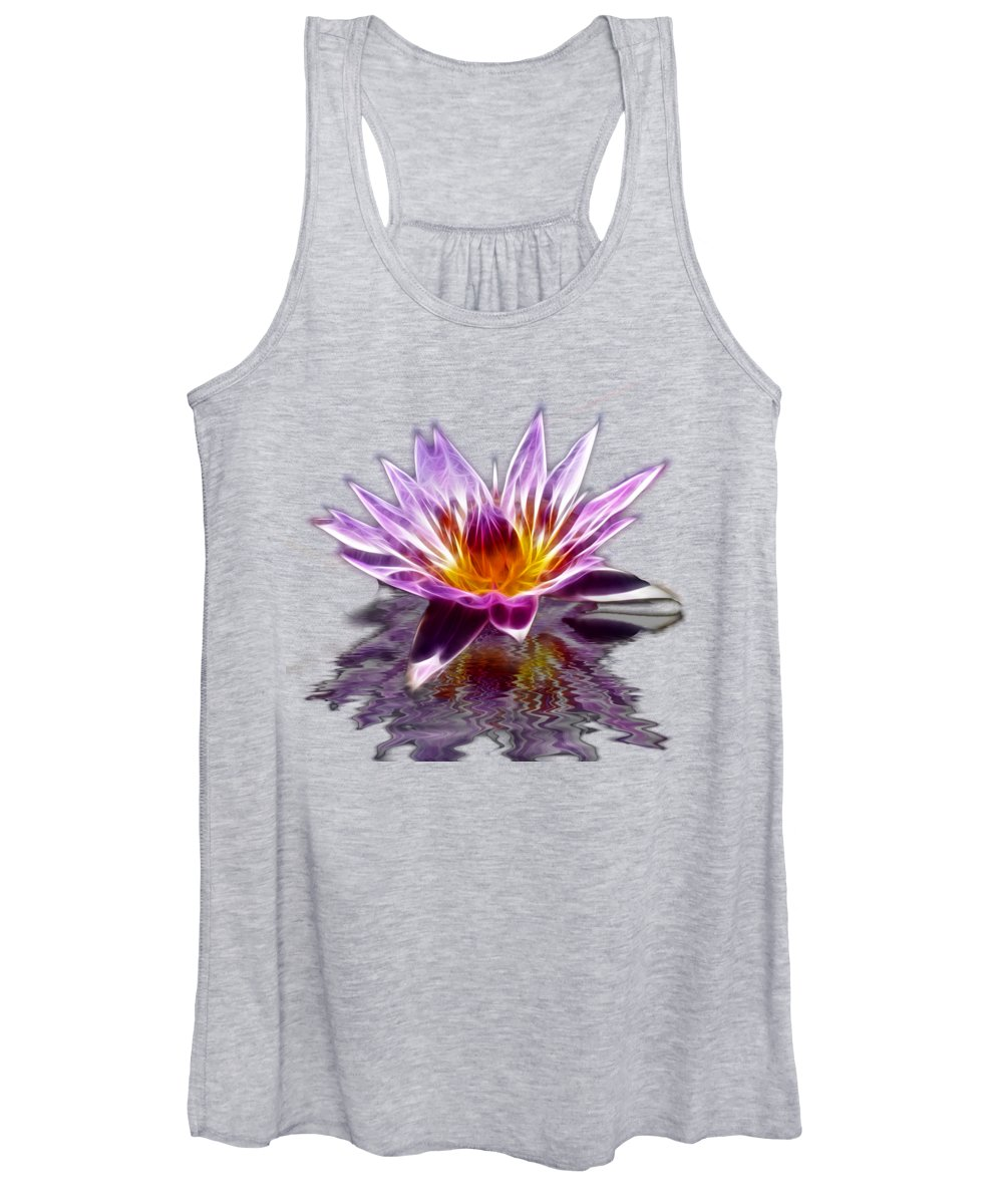 Lilly Women's Tank Top featuring the photograph Glowing Lilly Flower by Shane Bechler