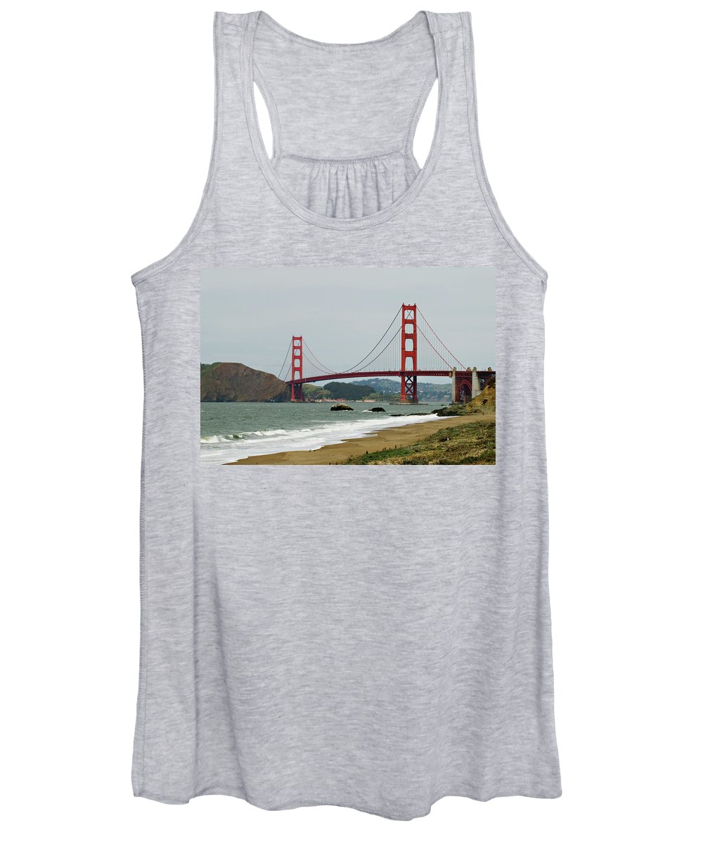 Golden Gate Bridge Women's Tank Top featuring the photograph Golden Gate Bridge from Baker Beach by Renee Cline