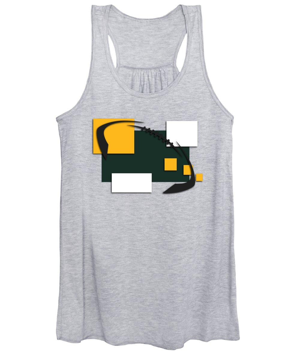 Packers Women's Tank Top featuring the photograph Green Bay Packers Abstract Shirt by Joe Hamilton