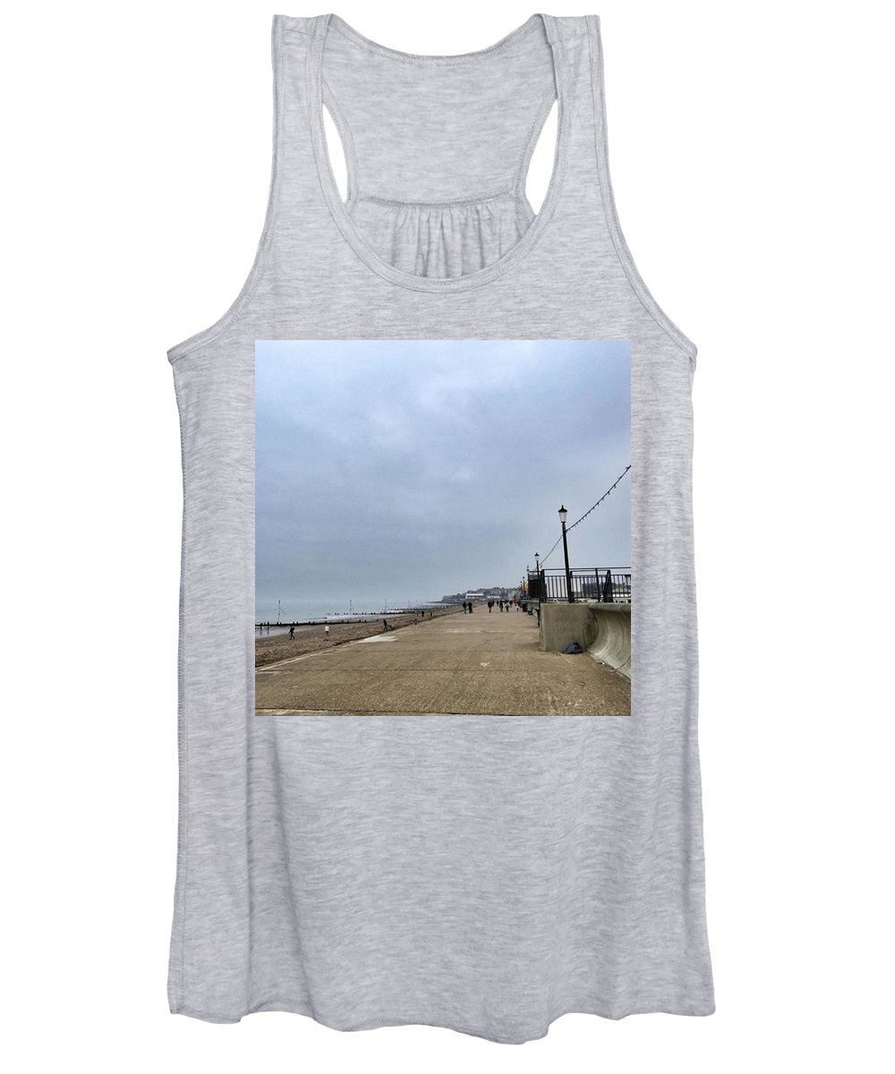 Beautiful Women's Tank Top featuring the photograph Hunstanton At 4pm Yesterday As The by John Edwards
