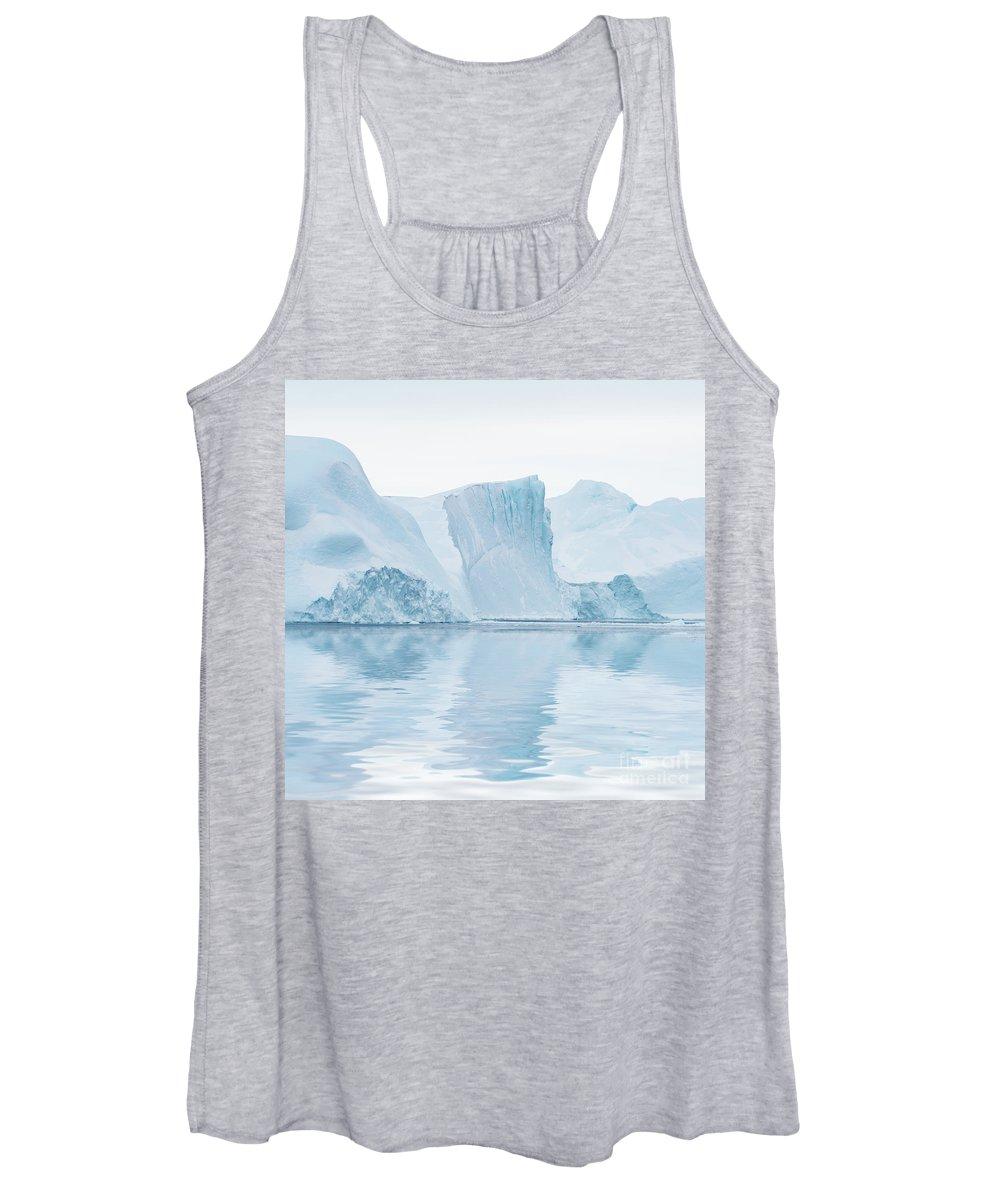 Greenland Women's Tank Top featuring the photograph Iceberg In Disko Bay Greenland by Janet Burdon