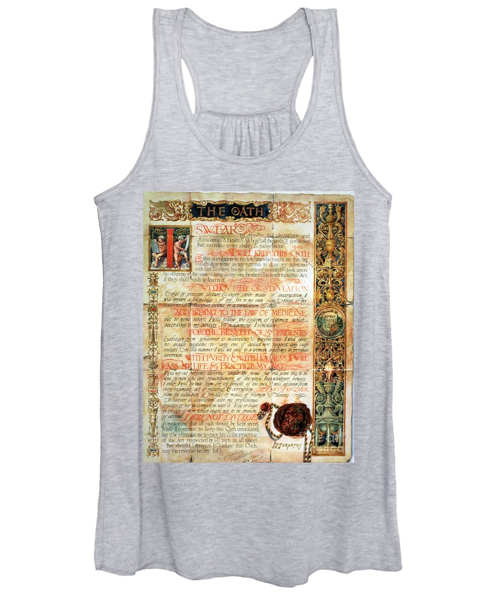 Science Women's Tank Top featuring the photograph International Code Of Medical Ethics by Science Source