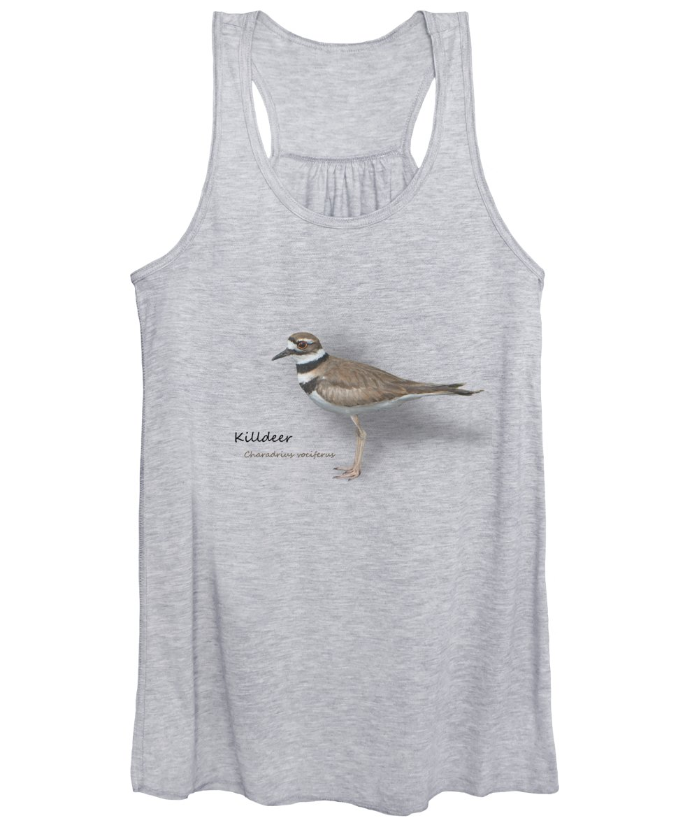Killdeer Women's Tank Top featuring the photograph Killdeer - Charadrius Vociferus - Transparent Design by Mitch Spence