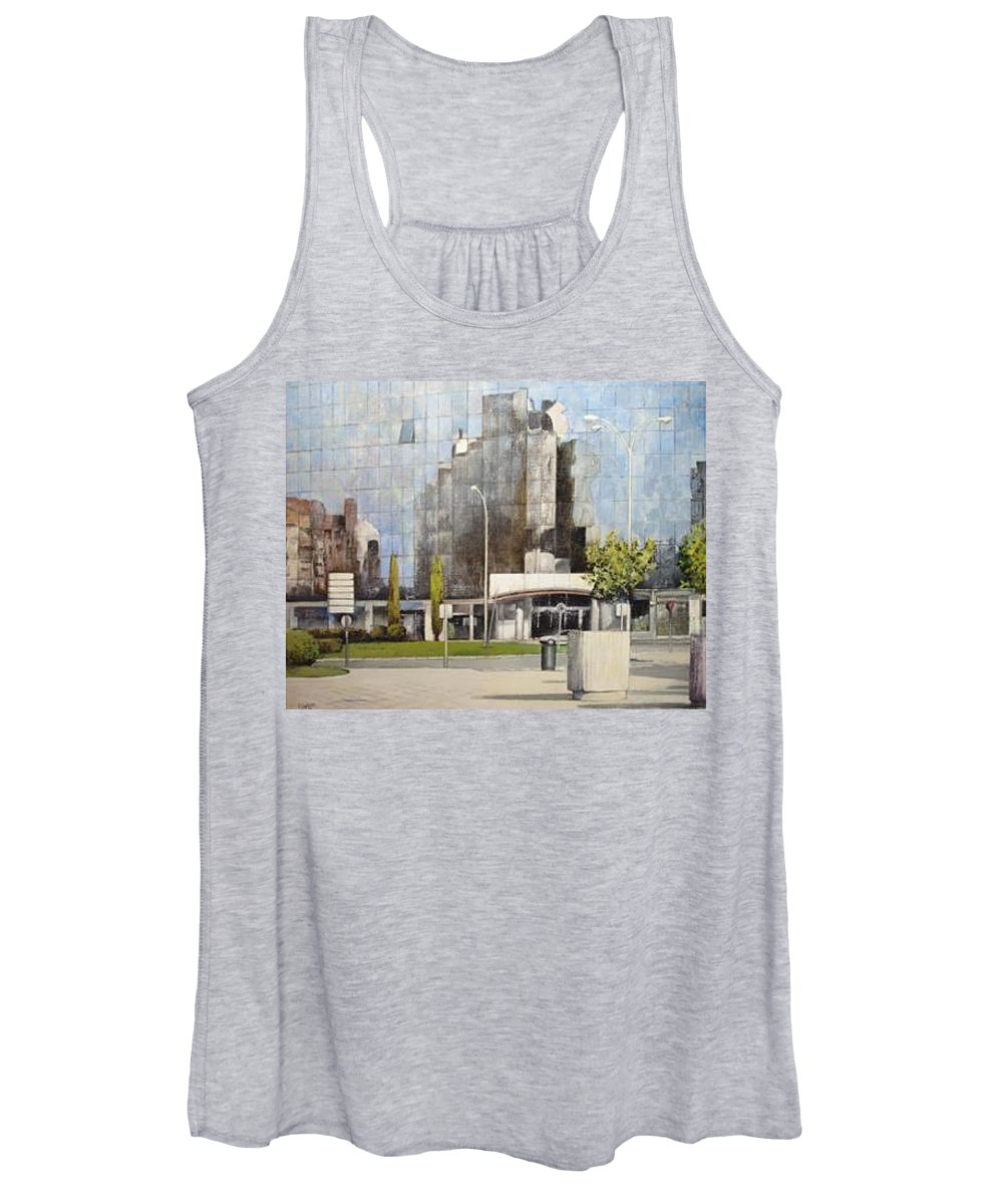 Leon Women's Tank Top featuring the painting Leon by Tomas Castano