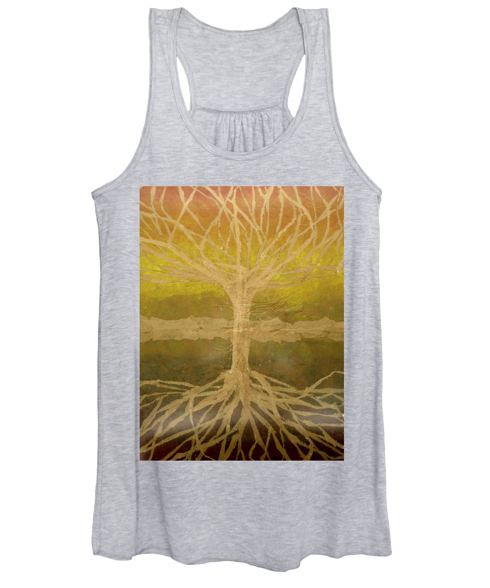 Abstract Women's Tank Top featuring the painting Meditation by Leah Tomaino
