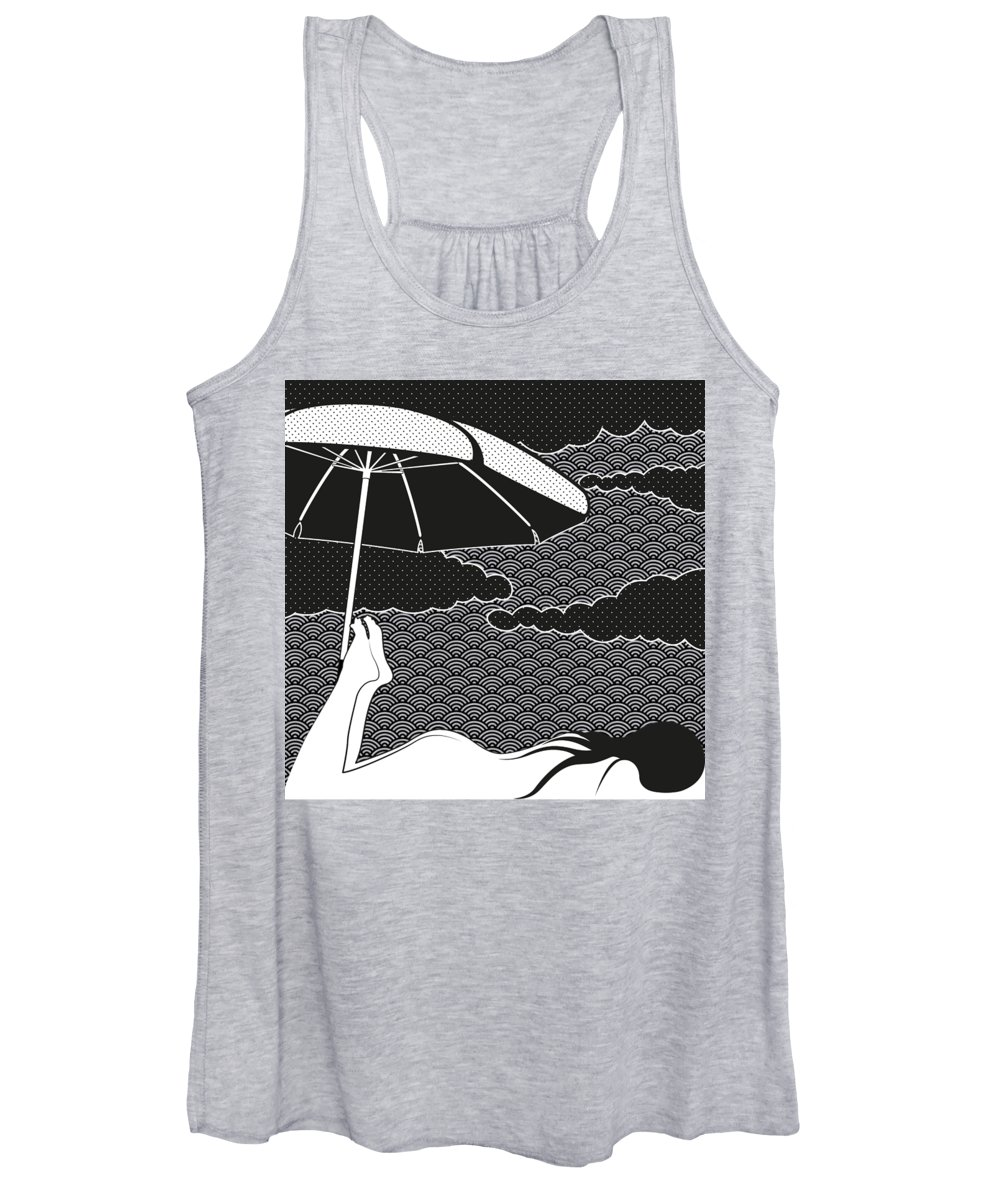 Cloudy Drawings Women's Tank Tops