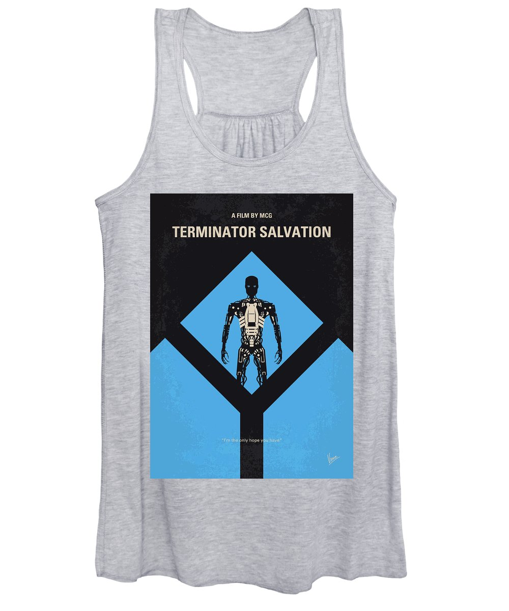 Terminator Women's Tank Top featuring the digital art No802-4 My The Terminator 4 Minimal Movie Poster by Chungkong Art