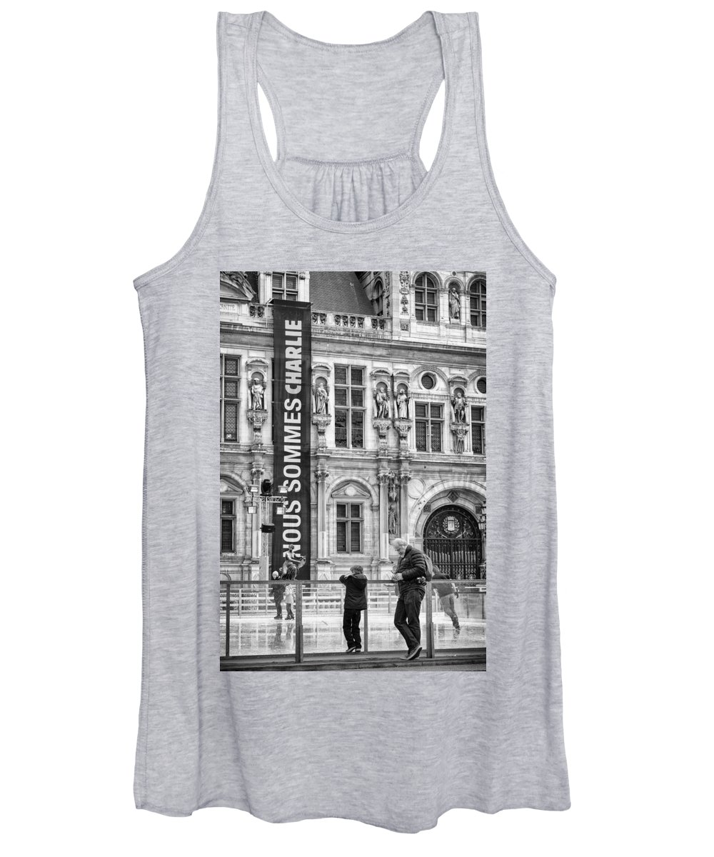 Charlie Women's Tank Top featuring the photograph Nous Sommes Charlie by Pablo Lopez