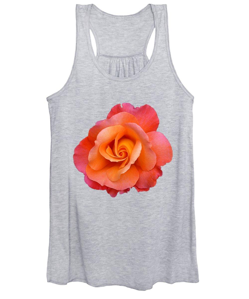 Orange Rose Women's Tank Tops