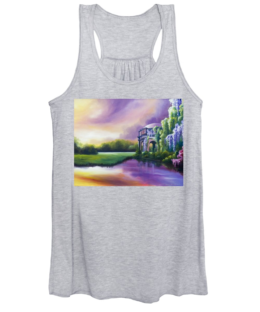 Marsh Women's Tank Top featuring the painting Palace Of The Arts by James Christopher Hill