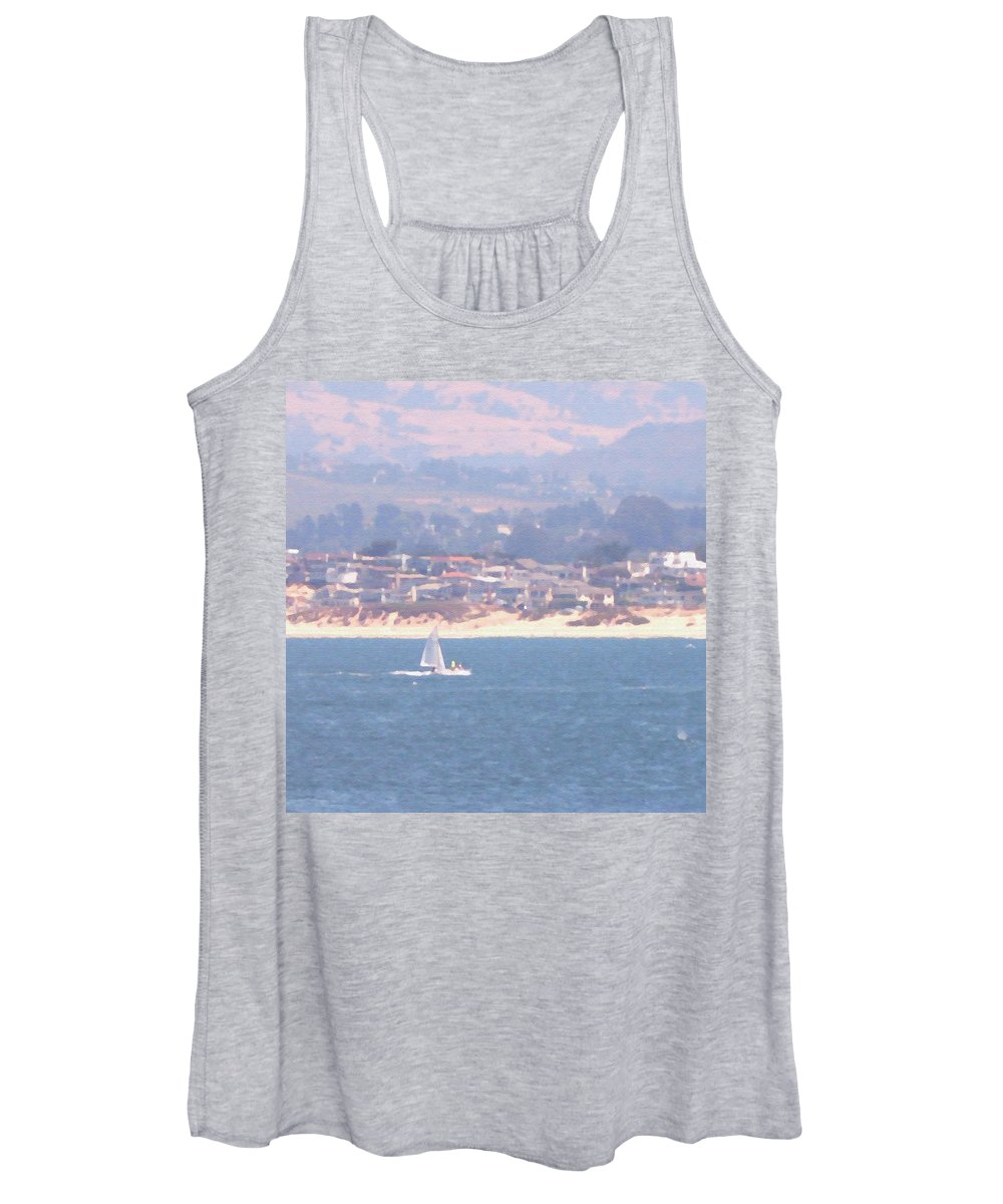 Sailing Women's Tank Top featuring the photograph Pastel Sail by Pharris Art