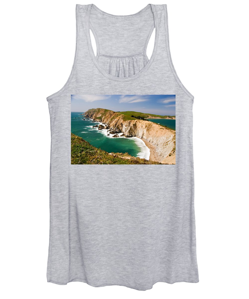 Elephant Seal Women's Tank Top featuring the photograph Point Reyes National Seashore by Renee Cline