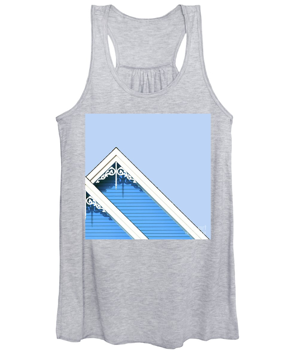 Architecture Women's Tank Top featuring the photograph Rooftop Detail With Decorative Fretwork by Jane Rix