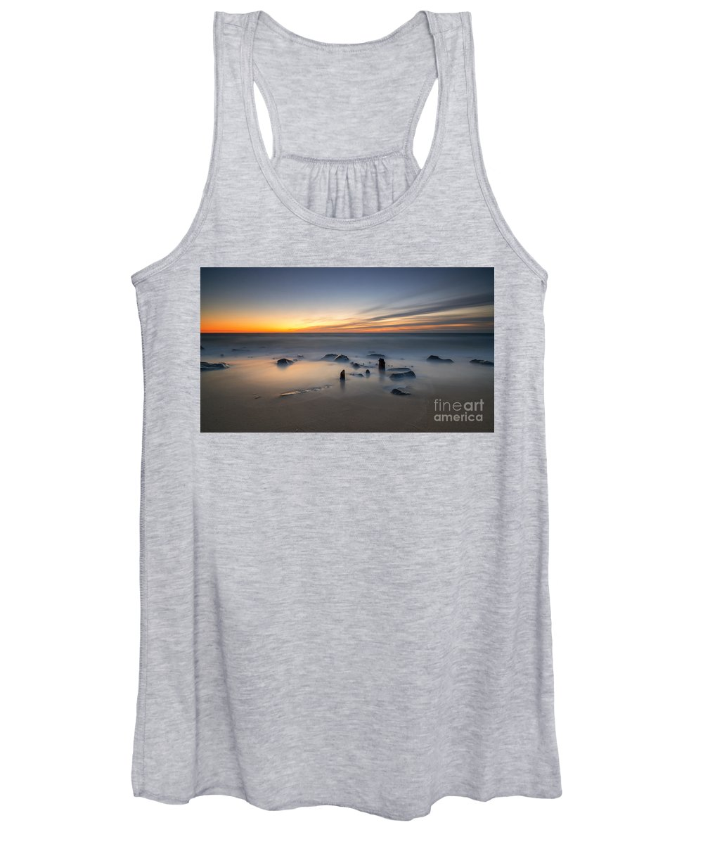 Michael Ver Sprill Women's Tank Top featuring the photograph Sandy Hook Sunrise by Michael Ver Sprill