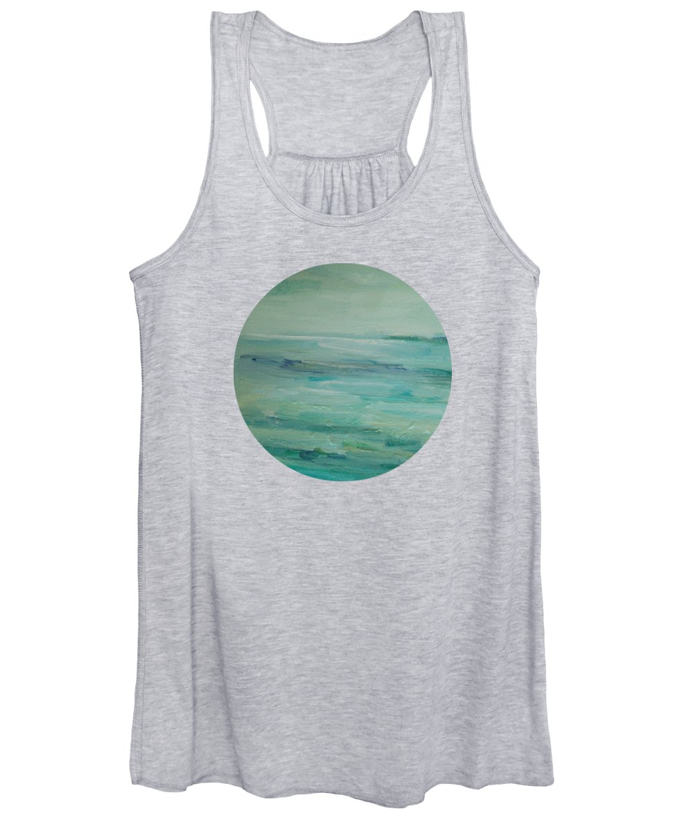 Landscape Women's Tank Top featuring the painting Sea Glass by Mary Wolf