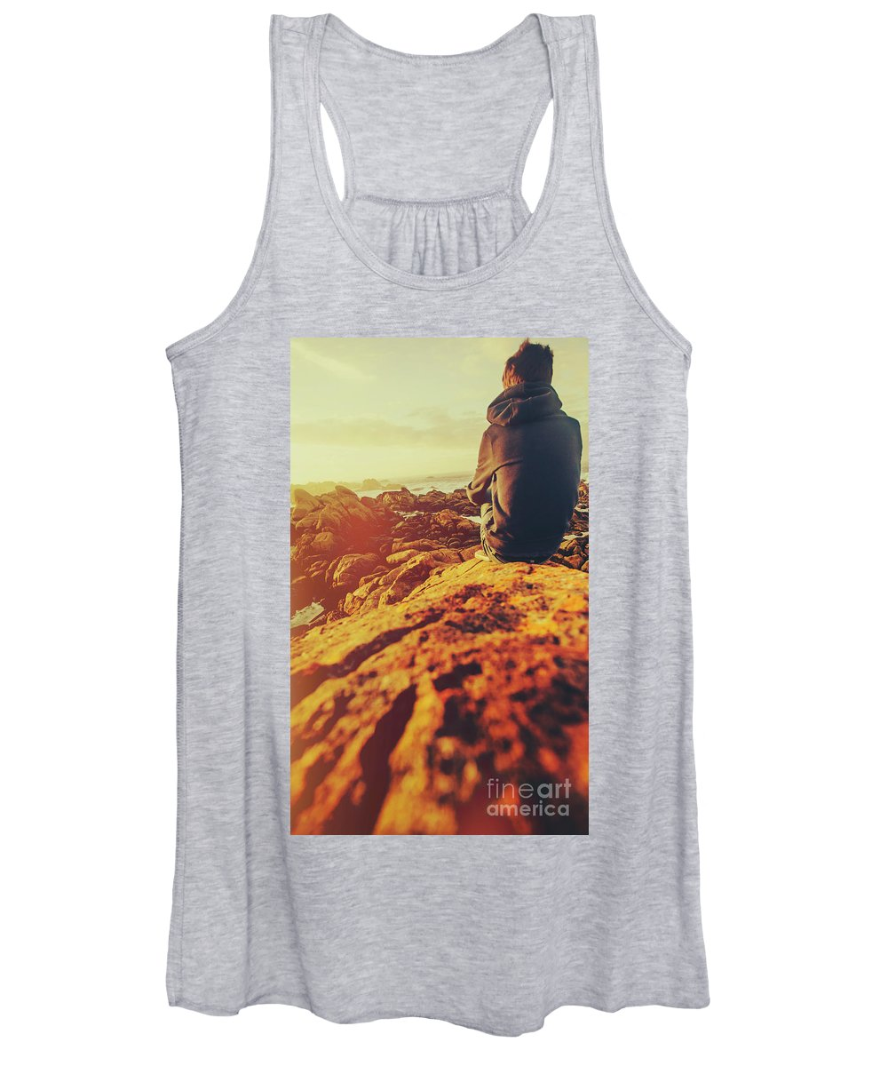 Sea Women's Tank Top featuring the photograph Sea Vacation Wonders by Jorgo Photography - Wall Art Gallery
