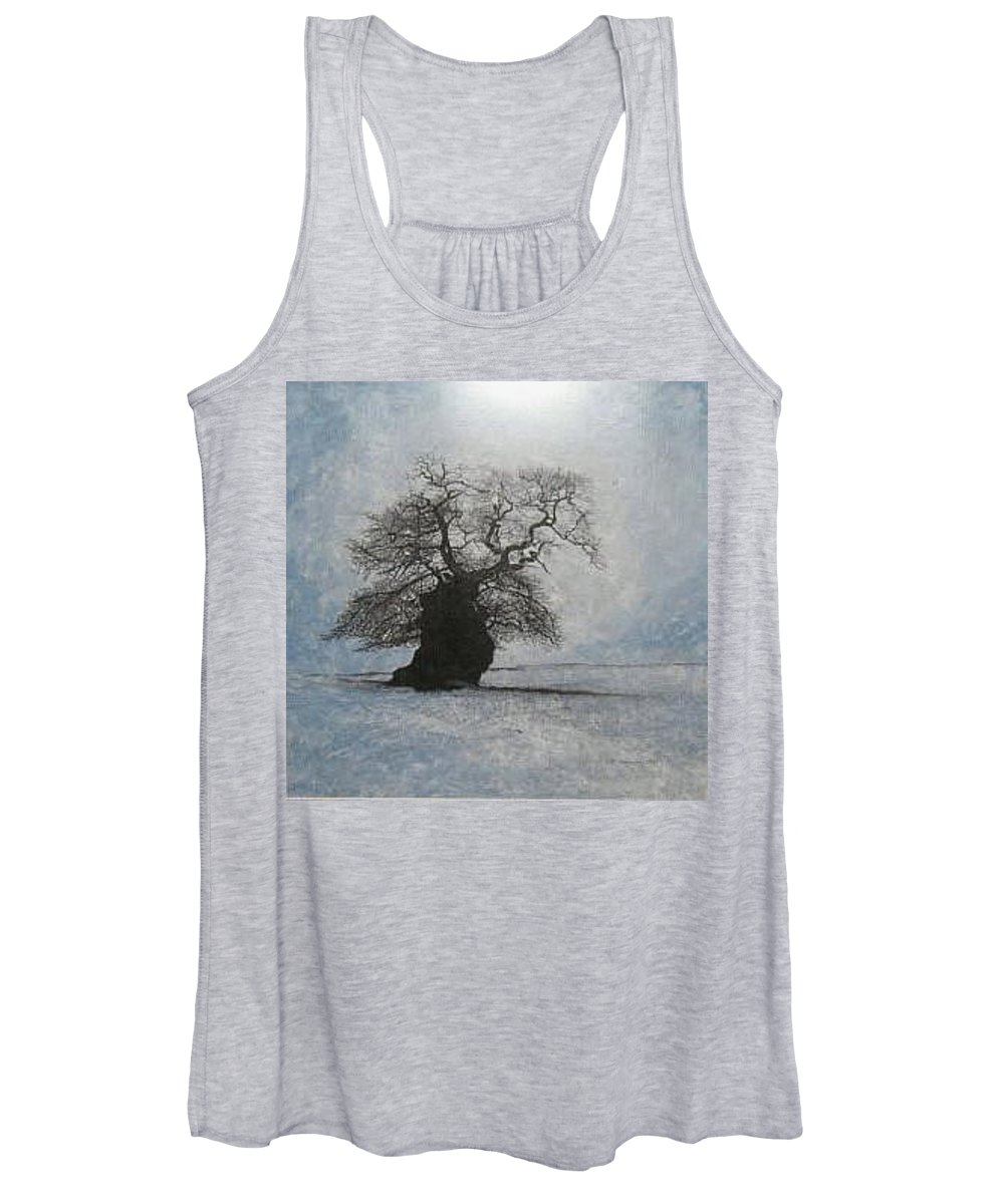 Silhouette Women's Tank Top featuring the painting Stilton Silhouette by Leah Tomaino