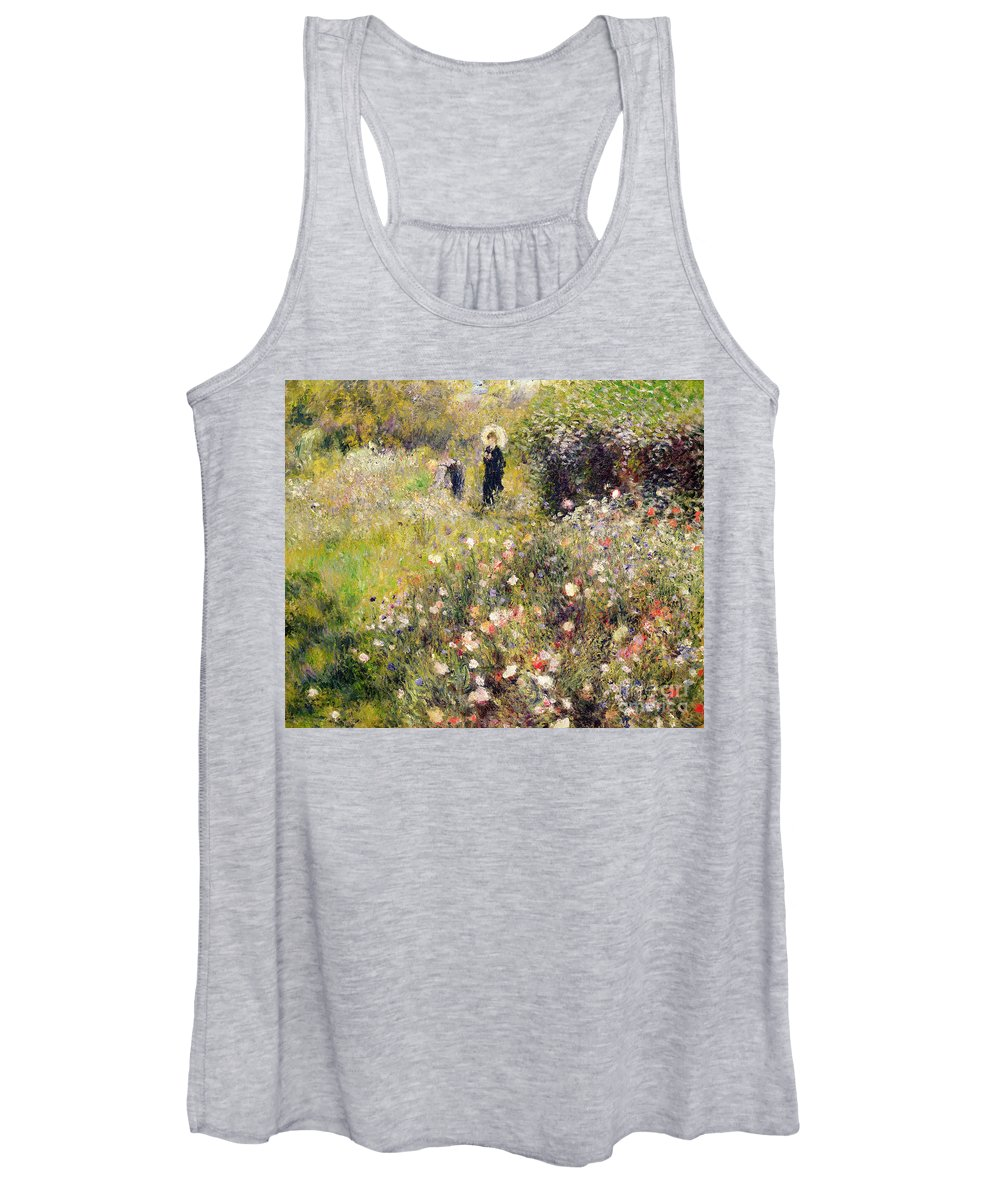 Summer Women's Tank Top featuring the painting Summer Landscape by Pierre Auguste Renoir