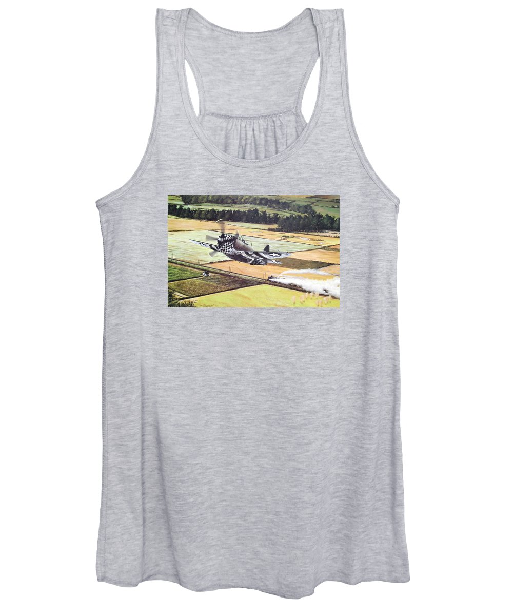 Military Women's Tank Top featuring the painting Target Of Opportunity by Marc Stewart