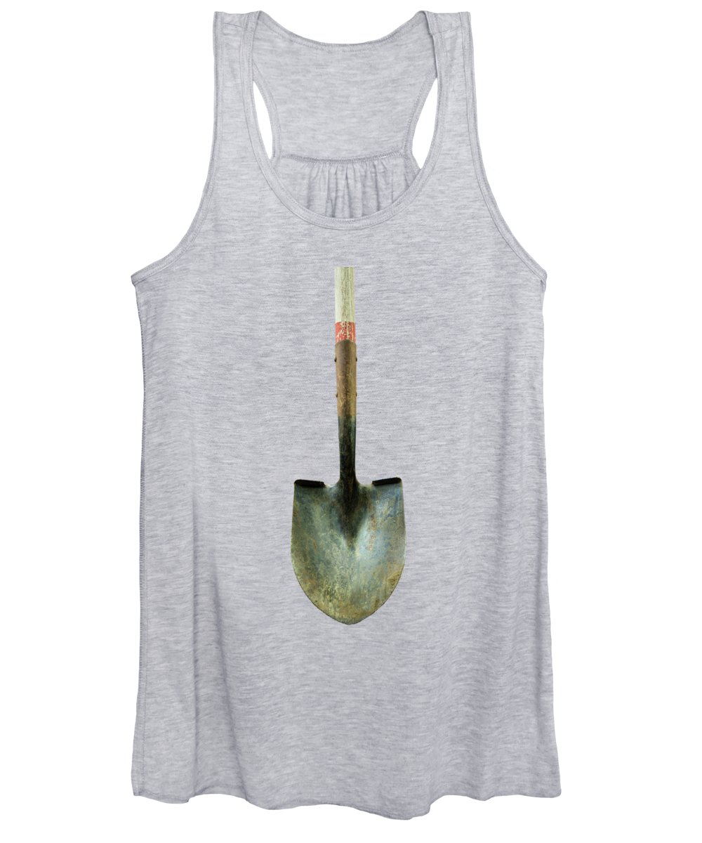 Art Women's Tank Top featuring the photograph Tools On Wood 15 On Bw by YoPedro