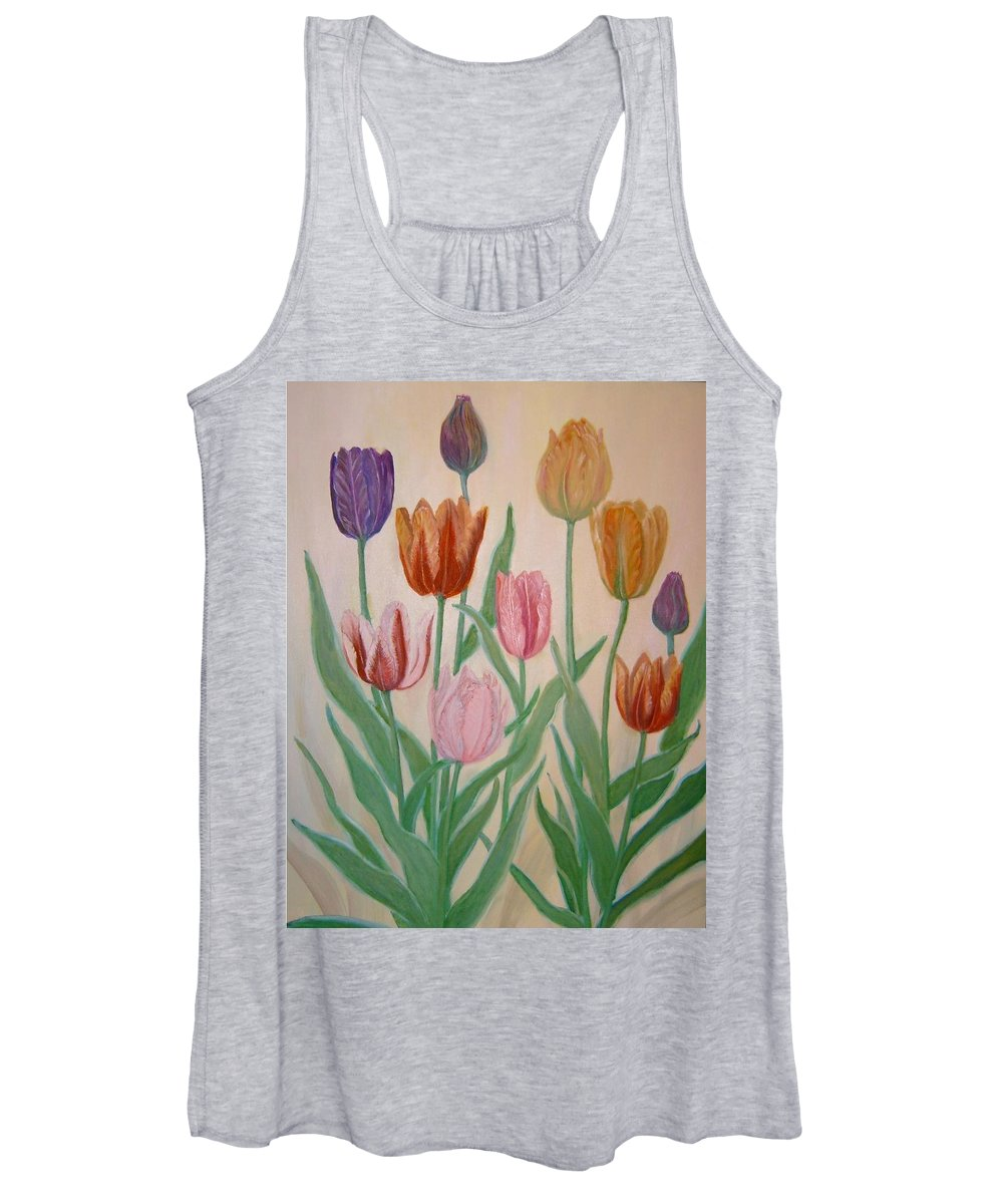 Flowers Of Spring Women's Tank Top featuring the painting Tulips by Ben Kiger