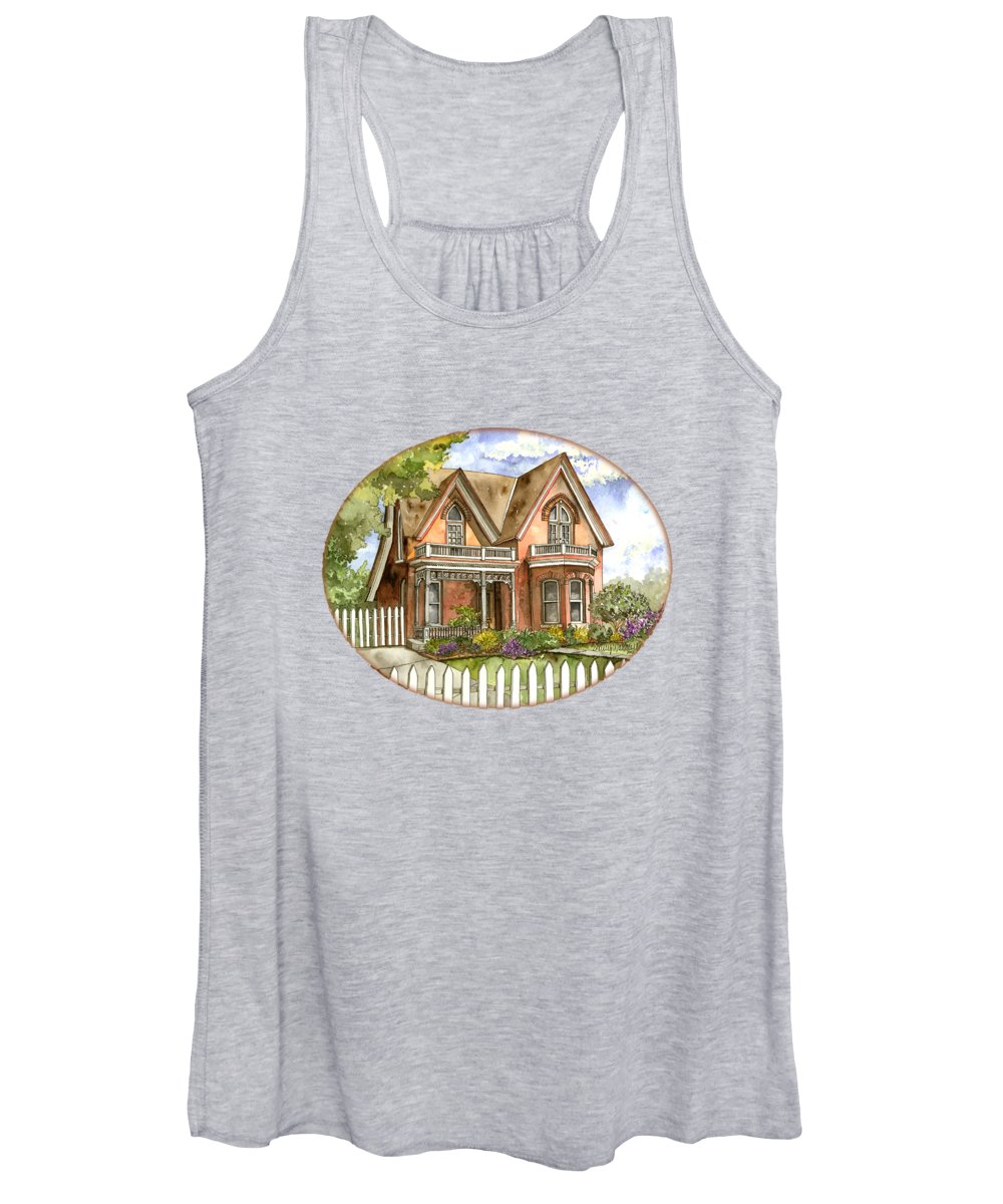 Victorian Women's Tank Top featuring the painting Victorian Beauty by Shelley Wallace Ylst