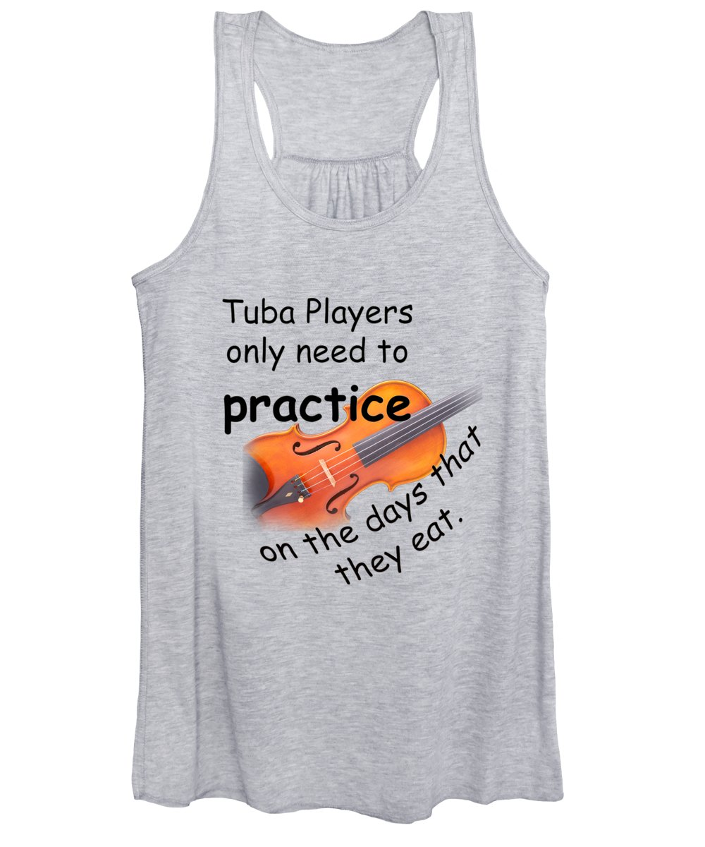 Violin Women's Tank Top featuring the photograph Violins Practice When They Eat by M K Miller
