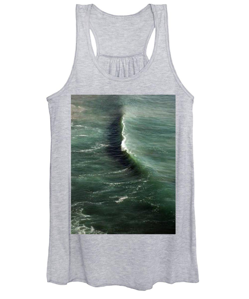 Surf Women's Tank Top featuring the photograph Wave Big Sur by Jason Sanders