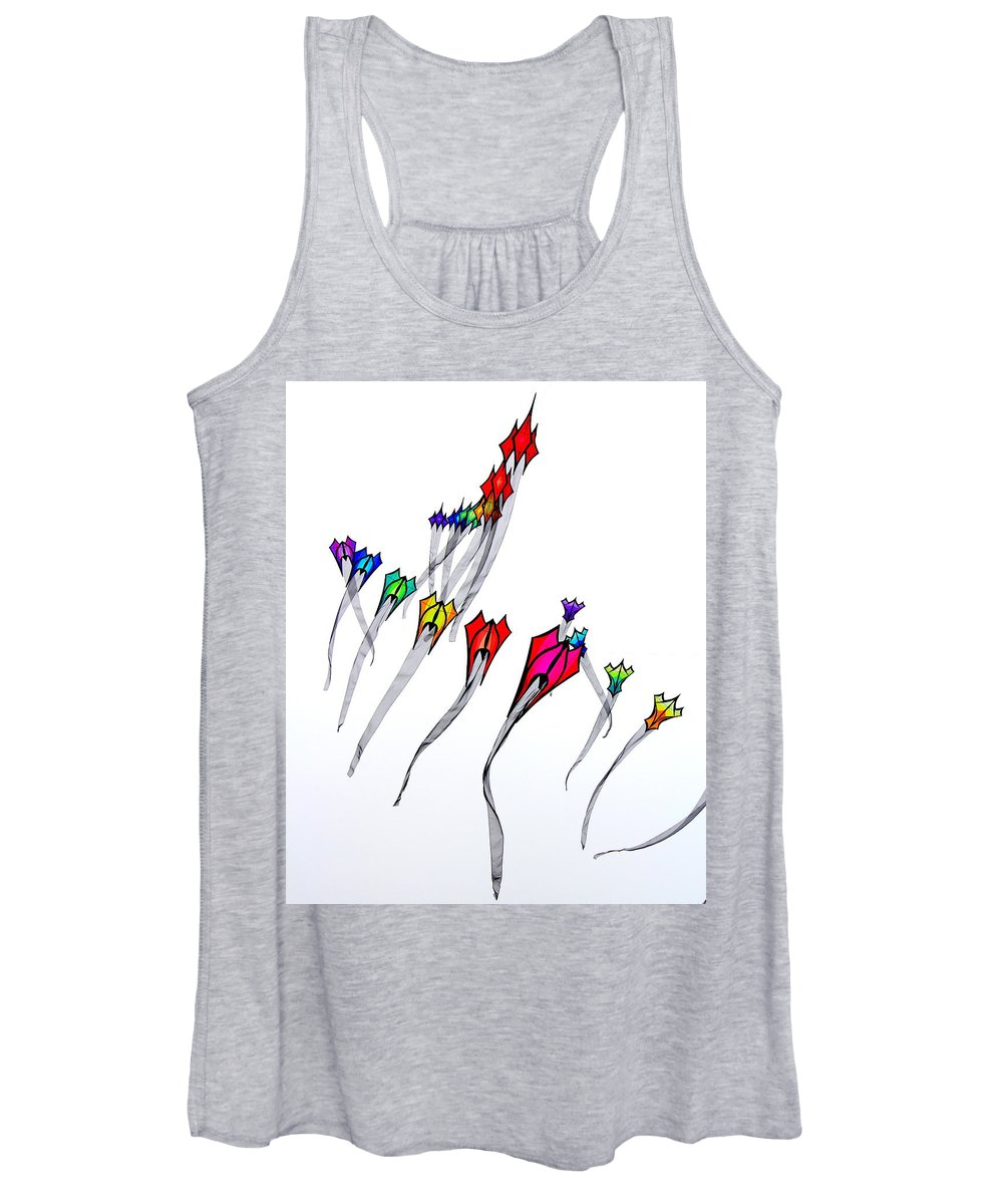 Kites Women's Tank Top featuring the photograph Windchaser 7 by Michele Hancock