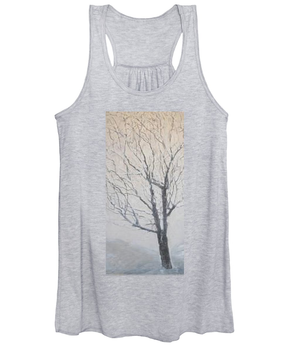 Tree Women's Tank Top featuring the painting Winter by Leah Tomaino