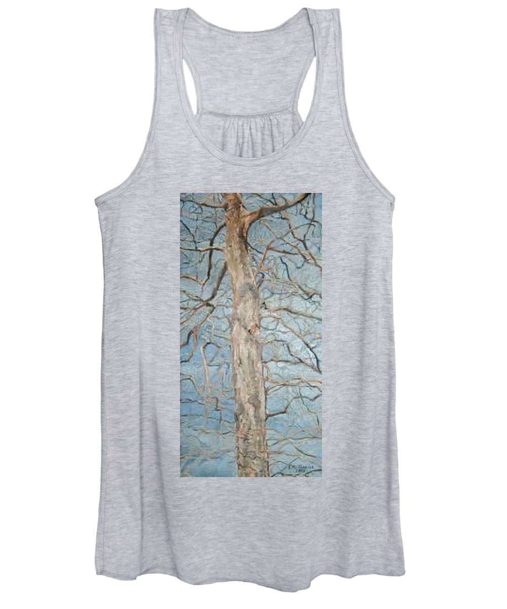 Tree Women's Tank Top featuring the painting Winter Morning by Leah Tomaino