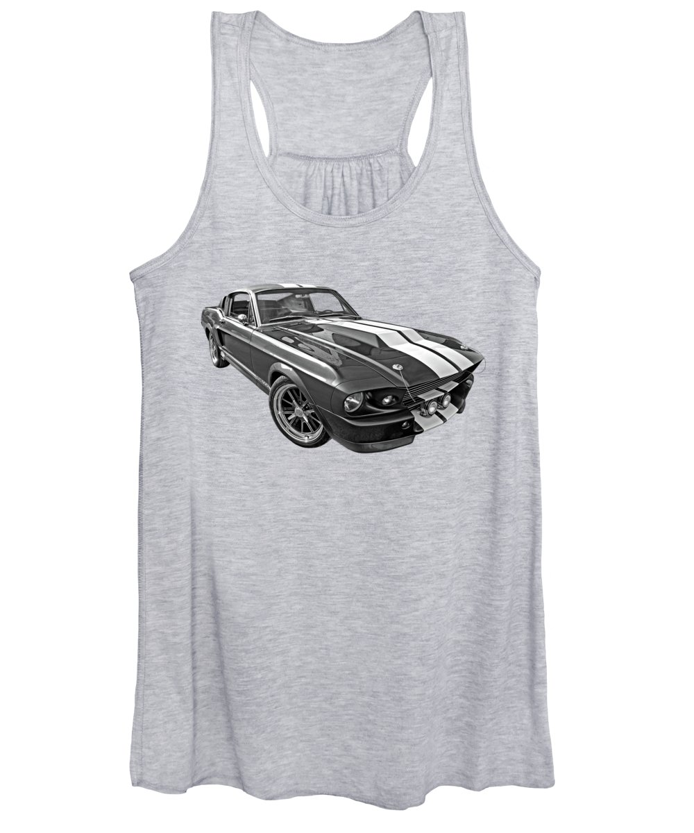 Ford Mustang Women's Tank Top featuring the photograph 1967 Eleanor In The Clouds by Gill Billington