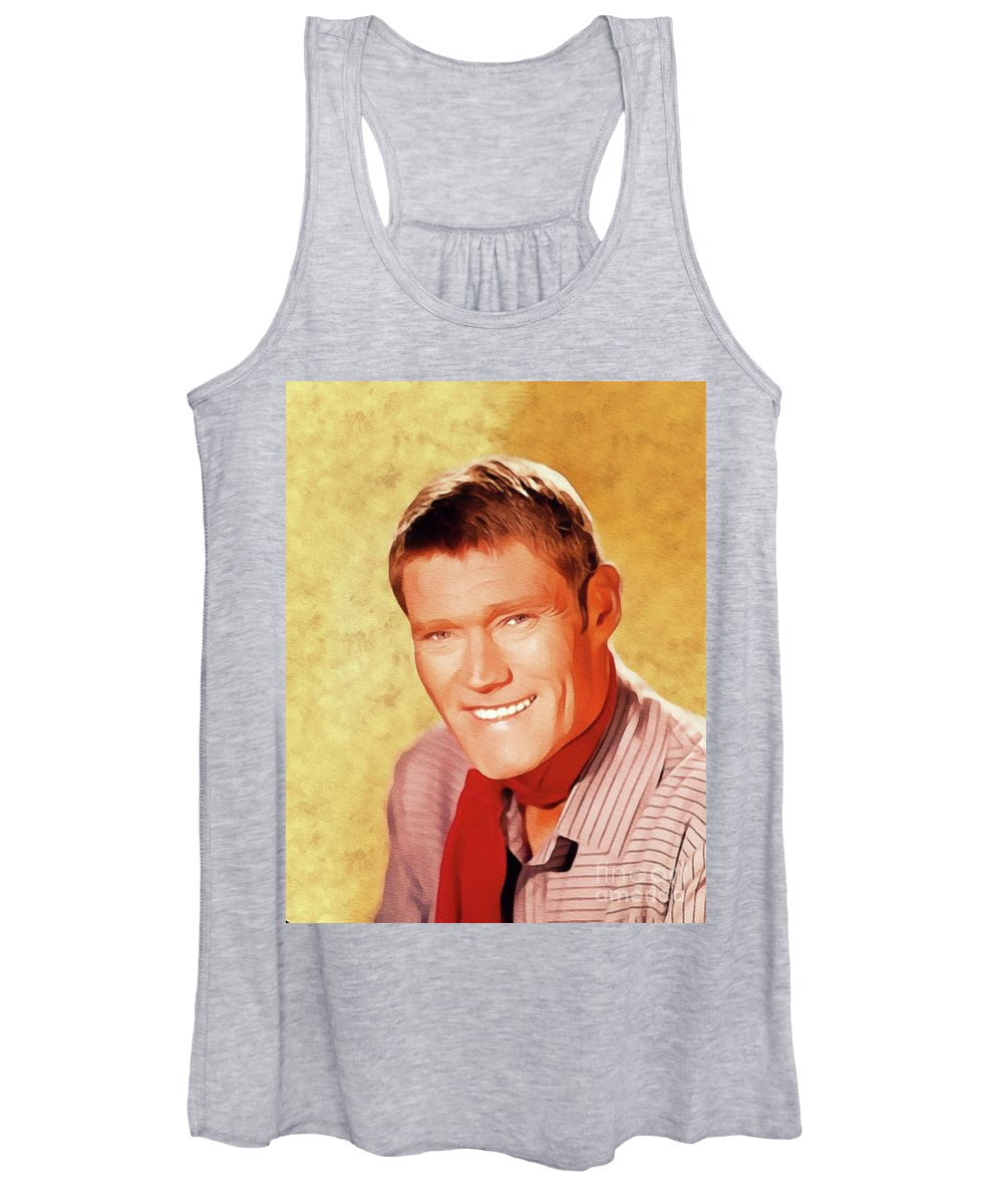 Chuck Women's Tank Top featuring the painting Chuck Connors, Vintage Actor by Esoterica Art Agency