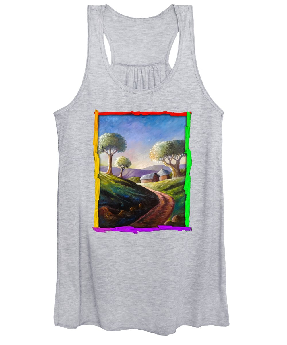 Thatched Roof Women's Tank Tops