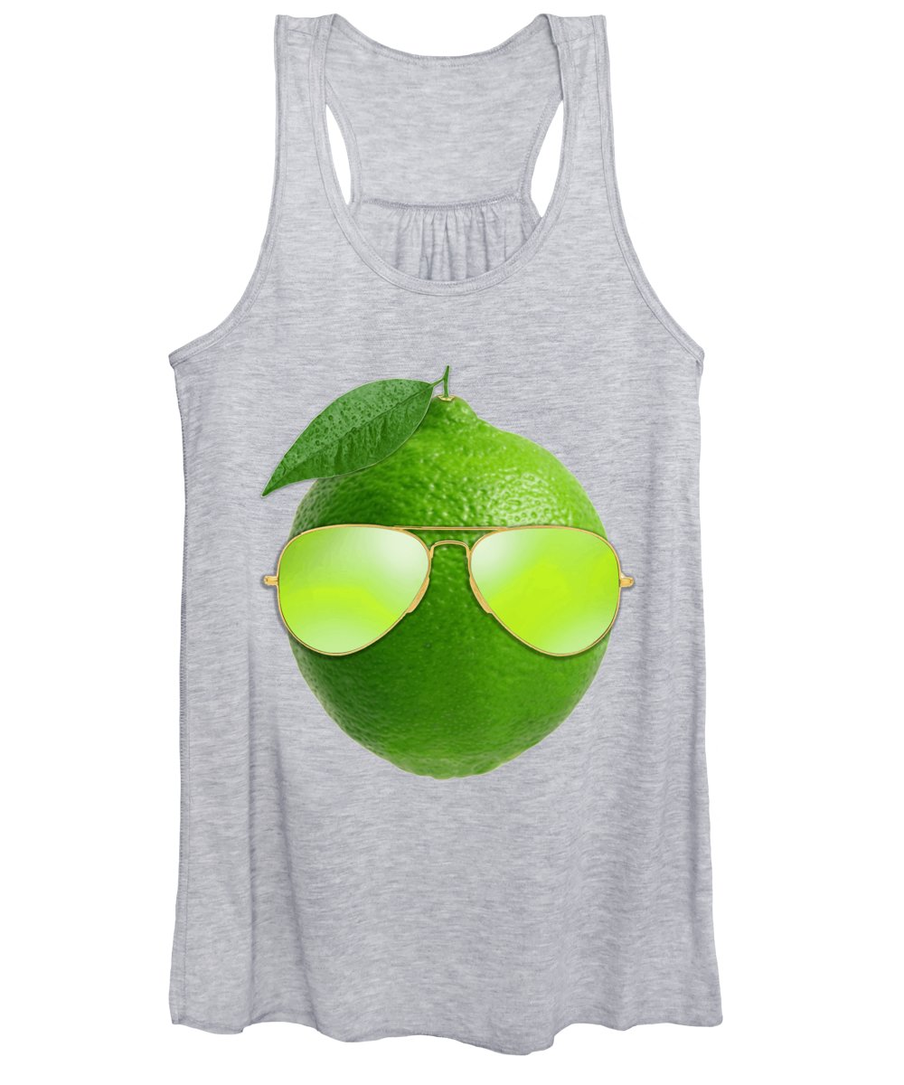 Lemon Women's Tank Top featuring the digital art Cool Lime by Filip Schpindel