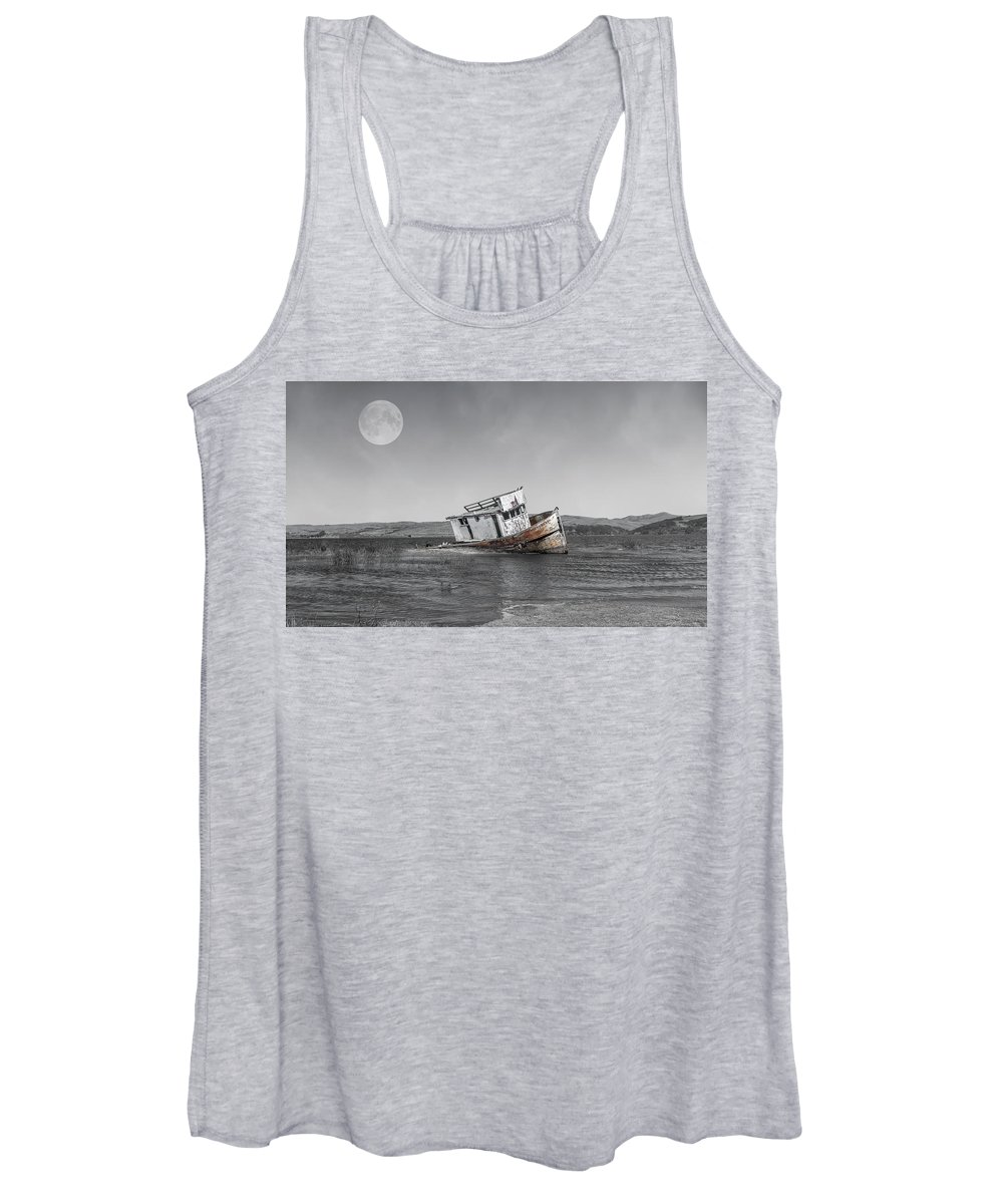 Shipwreck Women's Tank Top featuring the photograph Point Reyes California Shipwreck by Betsy Knapp