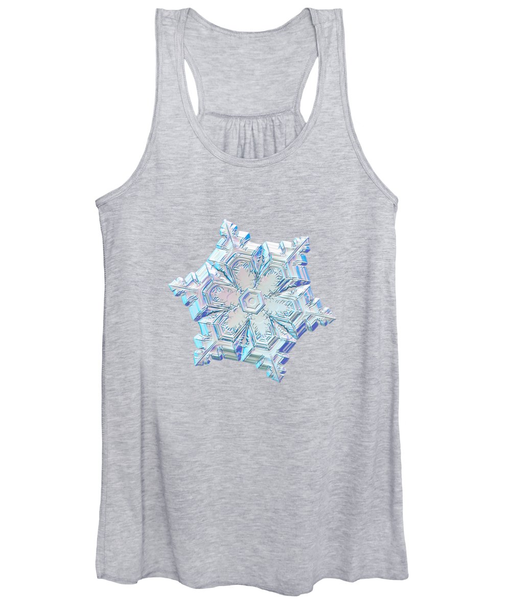 Snowflake Women's Tank Top featuring the photograph Real Snowflake - 05-feb-2018 - 12 Alt by Alexey Kljatov