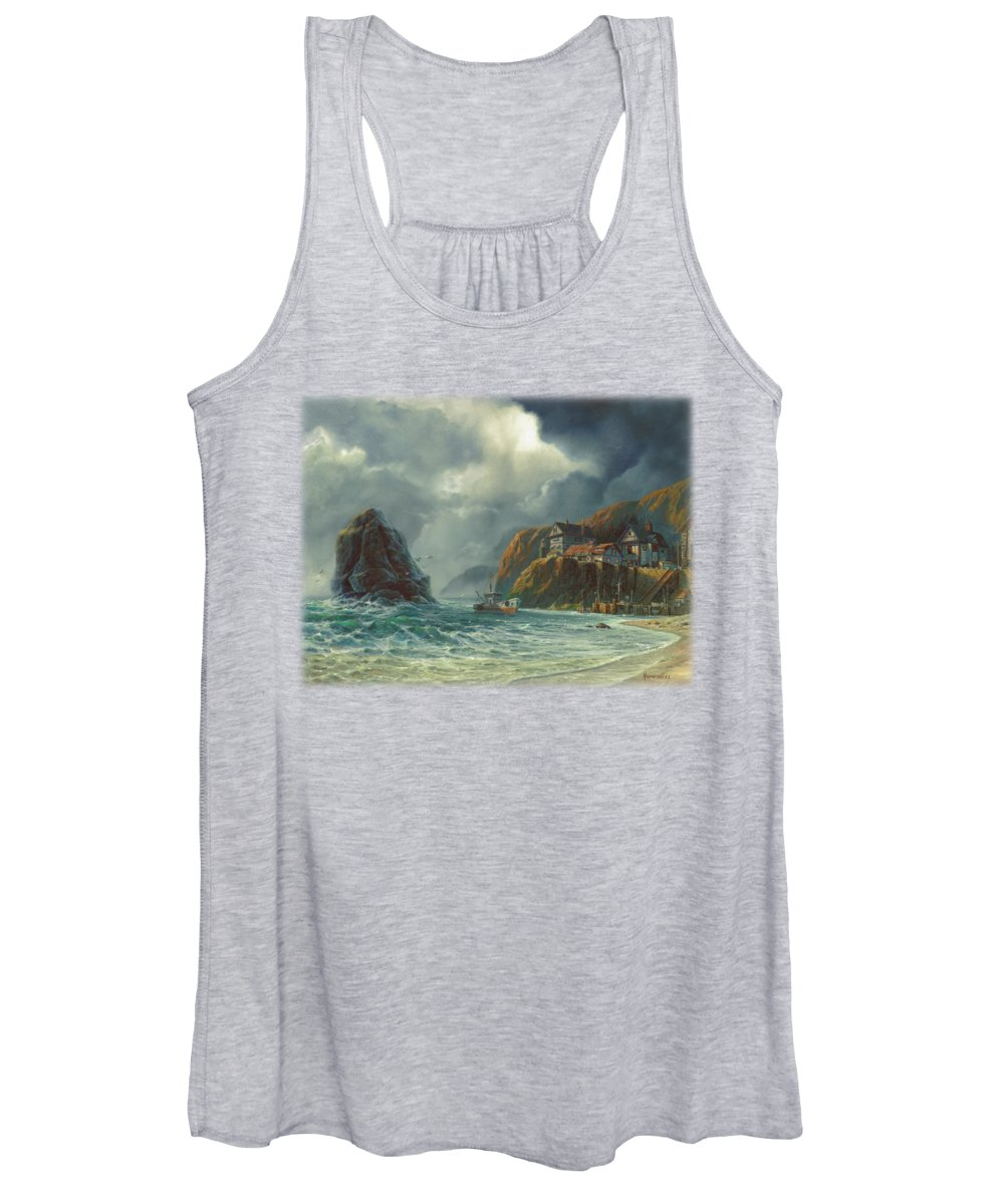 Michael Humphries Women's Tank Top featuring the painting Sanctuary by Michael Humphries