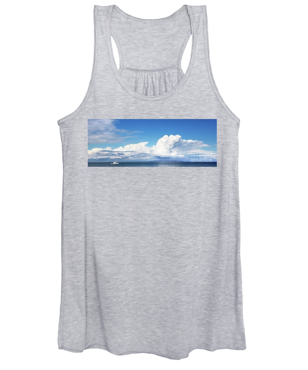 Canada Women's Tank Top featuring the photograph Small Boat And Big Sky by Jane Rix