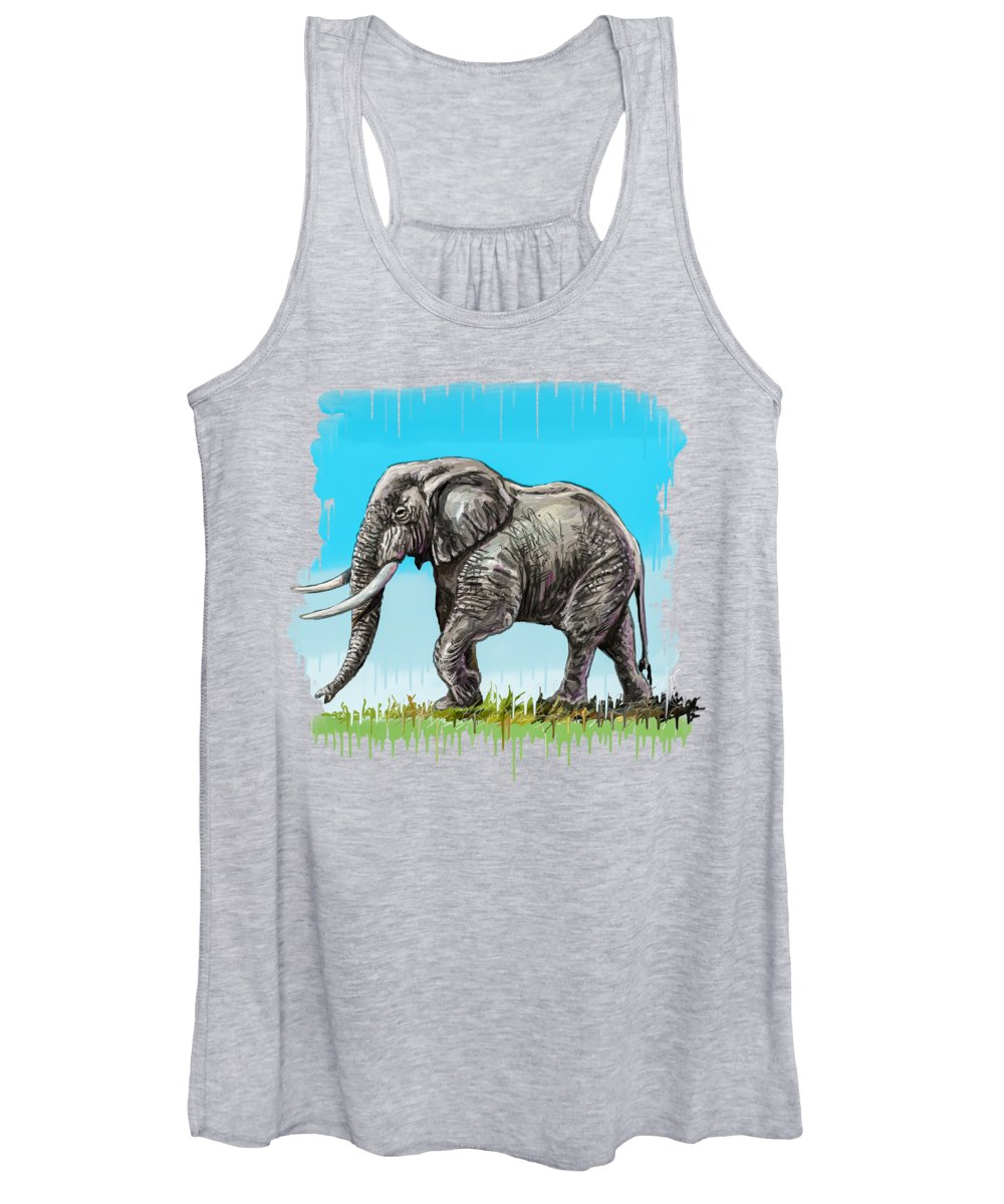Fine Art Women's Tank Top featuring the painting Son Of Africa by Anthony Mwangi