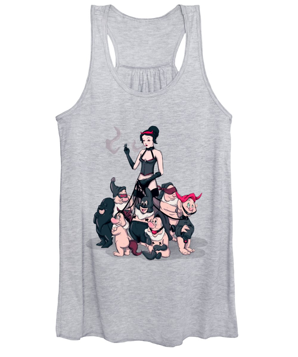 Snow Women's Tank Top featuring the drawing The Seven Subs by Ludwig Van Bacon