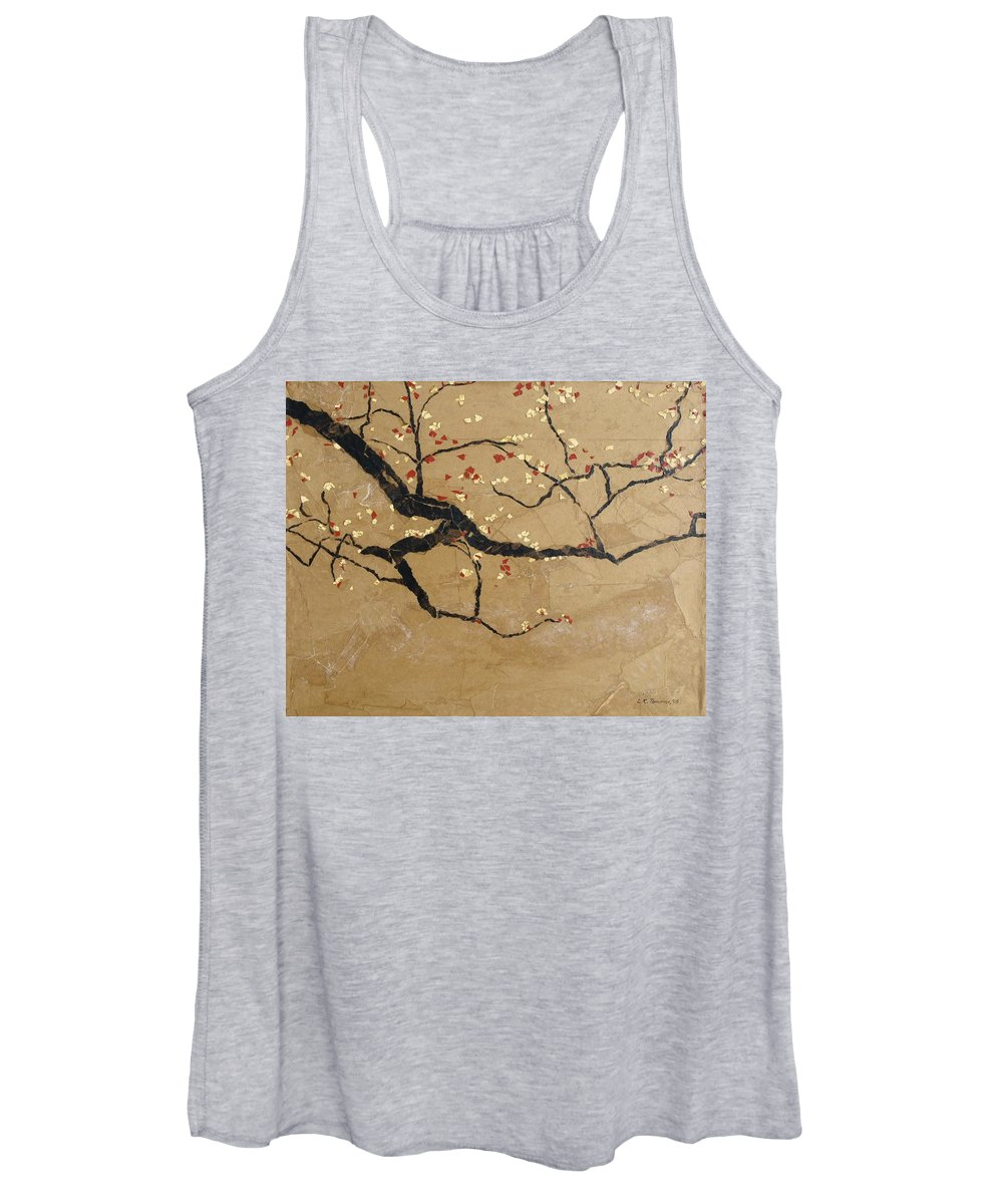 Blooming Branch Women's Tank Top featuring the painting Branch by Leah Tomaino