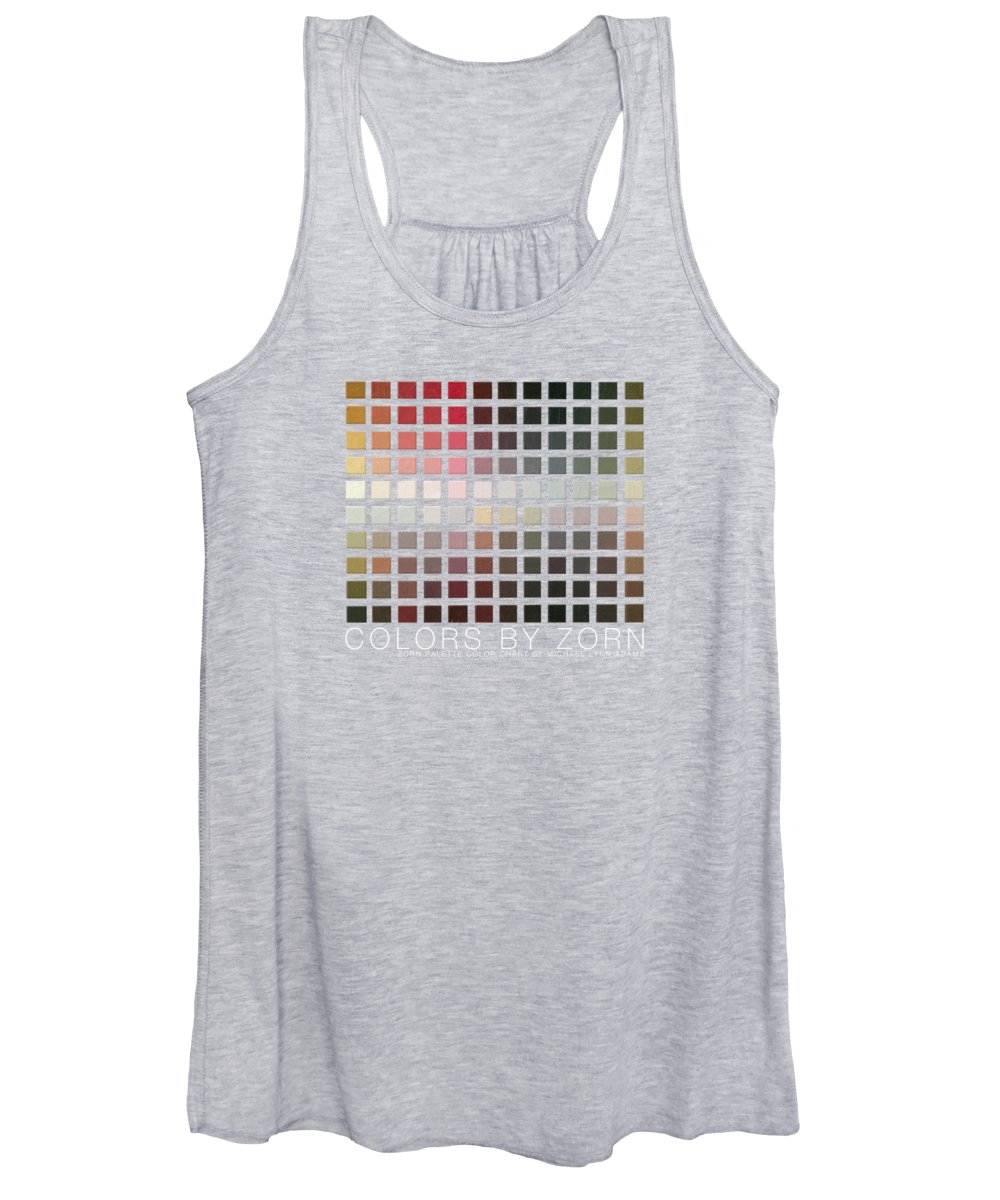 Zorn Color Palette Women's Tank Top featuring the painting Colors By Zorn by Michael Lynn Adams