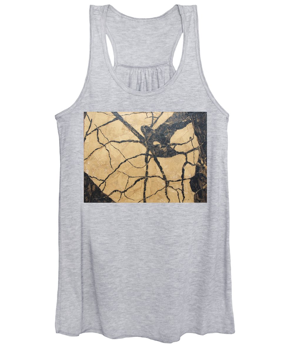 Abstract Women's Tank Top featuring the painting Looking Up by Leah Tomaino