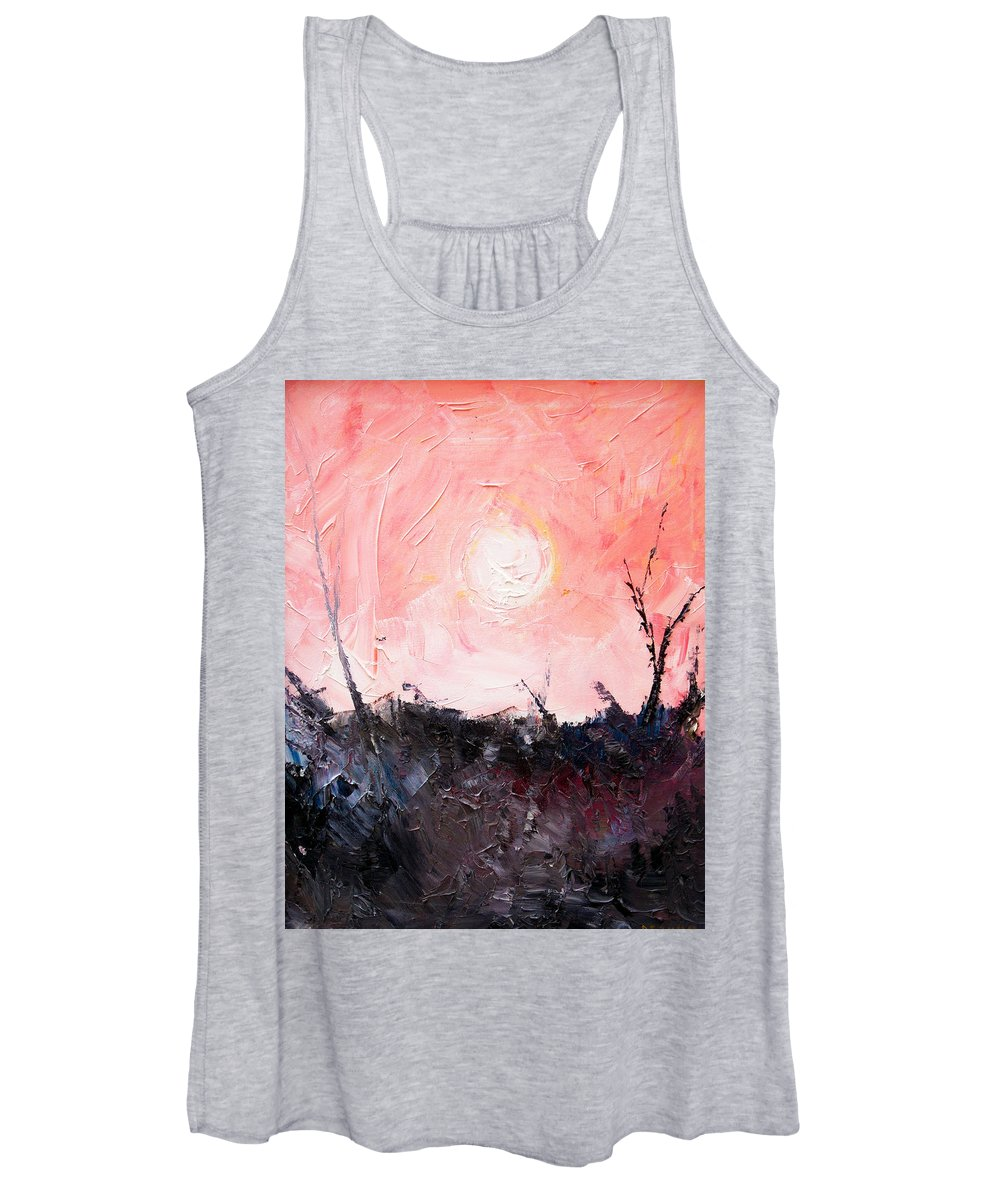 Duck Women's Tank Top featuring the painting White Sun by Sergey Bezhinets